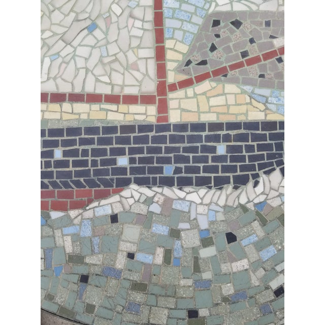 Berthold Muller Exceptional Mosaic Tile Coffee Table With Sail Boat For Sale - Image 4 of 13