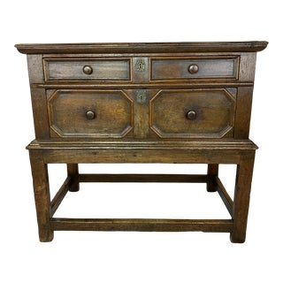 English Walnut Chest on Stand For Sale