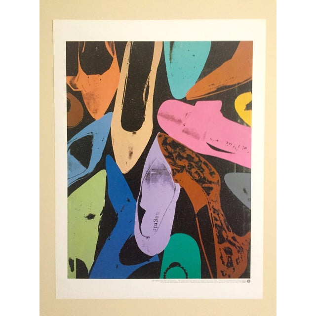 This original offset lithograph print poster of women's shoes is by the world famous Pop artist Andy Warhol (1928 - 1987)....