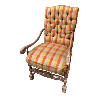 19th Century French Louis XIII Style Fauteuil