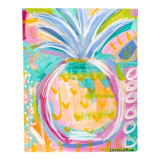 """Pineapple #8"" Abstract Painting by Christina Longoria For Sale"