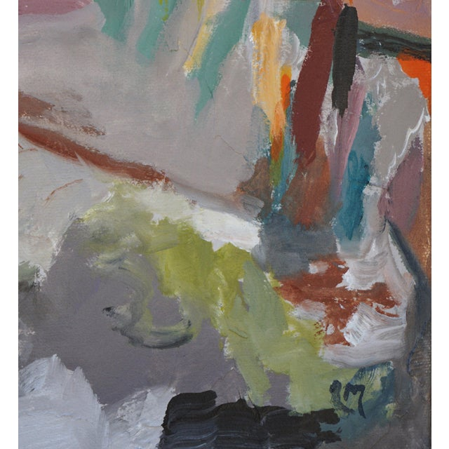 """2020s Laurie MacMillan """"So Close, and Yet So Far"""" Abstract Landscape For Sale - Image 5 of 6"""