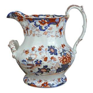 19th Century Imari Style British Stoneware Pitcher For Sale
