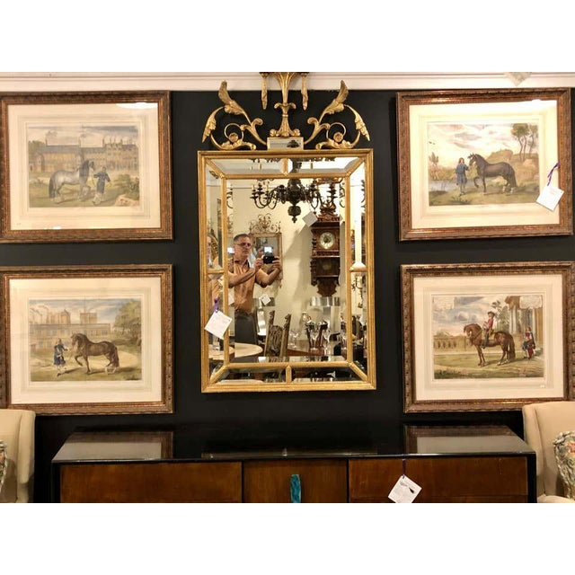 Mid 20th Century Set of Four Finely Framed and Matted Engravings of English Men on Their Horses For Sale - Image 5 of 13