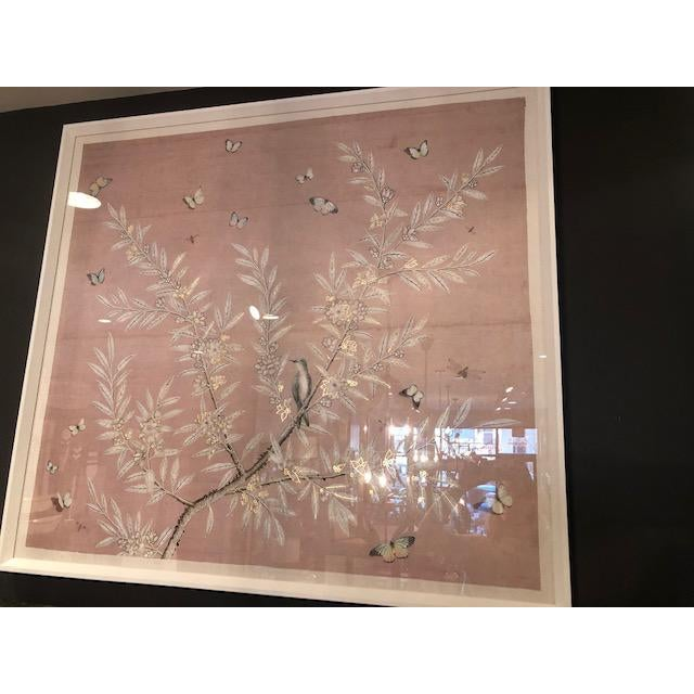 2020s Chinoiserie Art in Blush Print For Sale - Image 5 of 5
