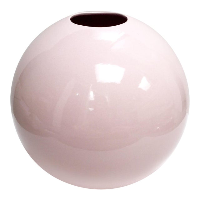 Large Round Gumball Pink Vintage Vase - Image 1 of 7