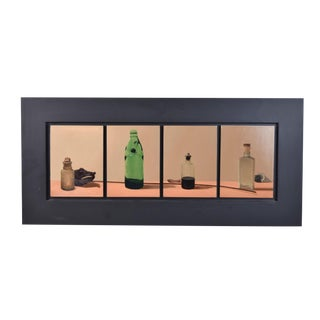 """1997 John Collier Sabraw """"Chemical Rarities"""" Vintage Bottles Acrylic Painting For Sale"""