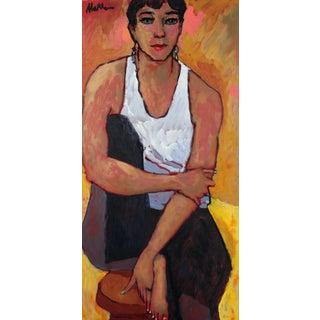 "Rip Matteson ""Insurgent"" Seated Female Portrait in Oil, 2003 2003 For Sale"