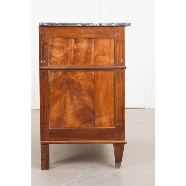 Metal French Early 19th Century Louis XVI Style Walnut Commode For Sale - Image 7 of 12