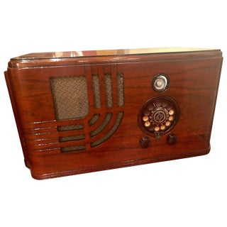 Airline 62-346 Art Deco Restored Tube Radio Bluetooth For Sale