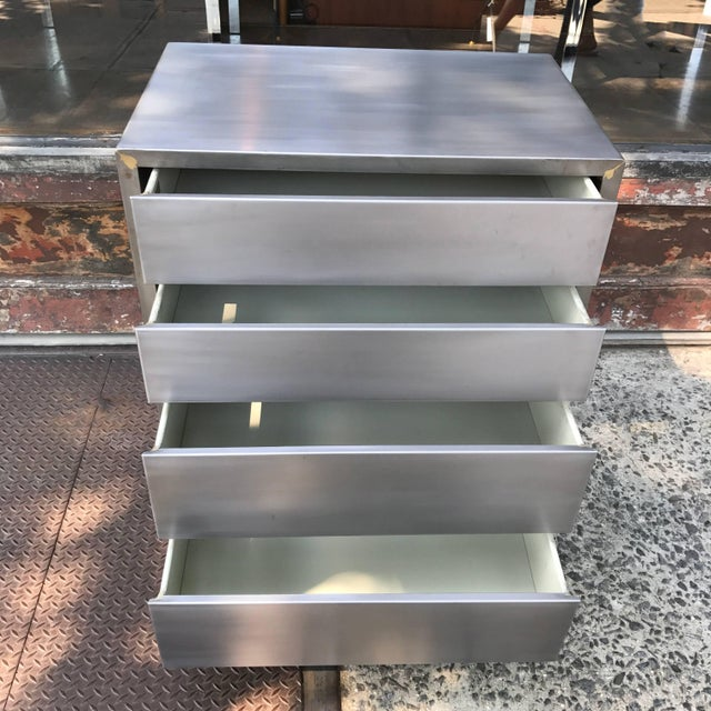 Machine Age Streamlined Brushed Steel Dresser by Superior Sleeprite For Sale In New York - Image 6 of 10