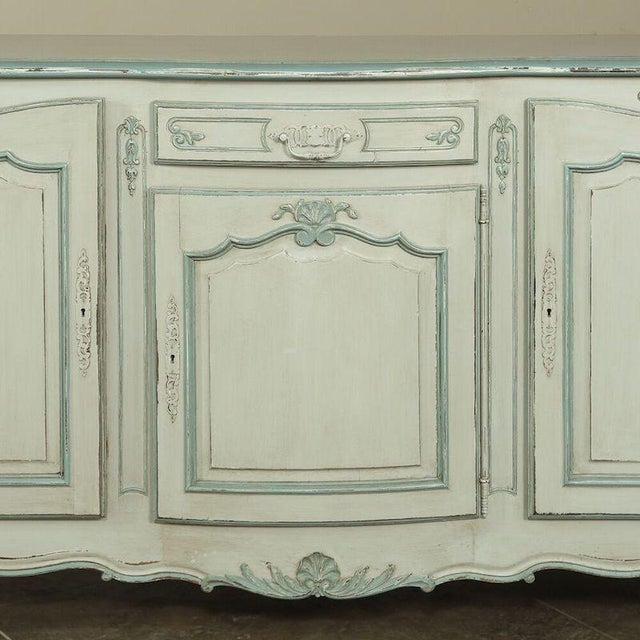 French Antique Country French Painted Buffet For Sale - Image 3 of 10