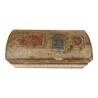 Vintage Florentine Stamp Box For Sale