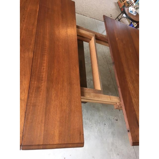 Late 19th Century Antique Walnut Dining Table With Leaves For Sale - Image 5 of 13