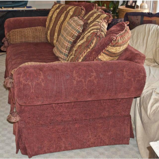Traditional Lane Raymond Waites Custom Bolster Sofa For Sale - Image 3 of 13
