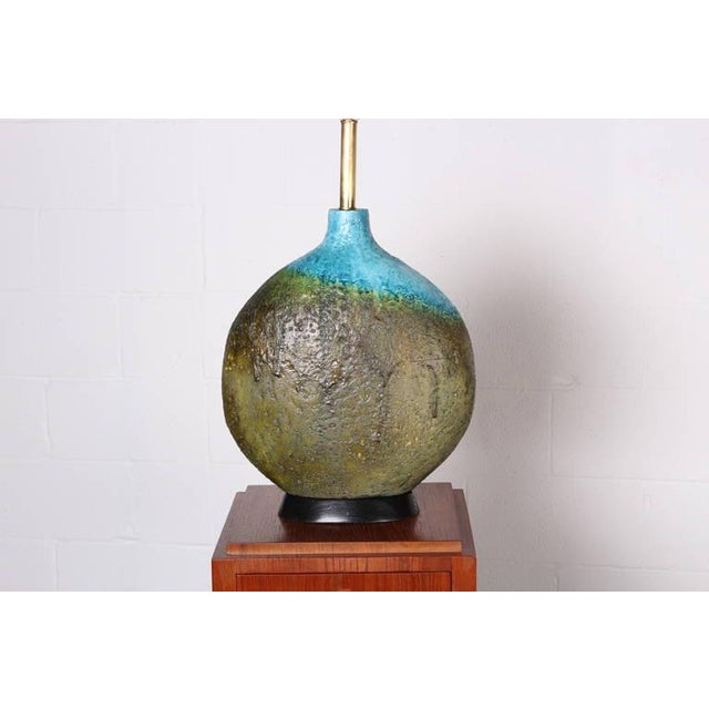 Large Ceramic Lamp by Raymor - Image 3 of 10