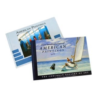 American Paintings Art Postcard Books - a Pair