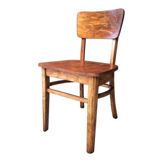 20th Century Americana Maple Wood Desk Chair