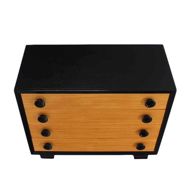 Art Deco Two-Tone Four-Drawer Dresser For Sale