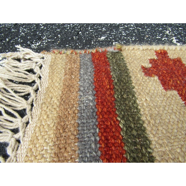 "Isara Wool Kilim Rug-7'6'x9'6"" For Sale In West Palm - Image 6 of 7"