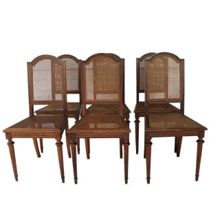 Louis XVI Style French Dining Chairs - Set of 6