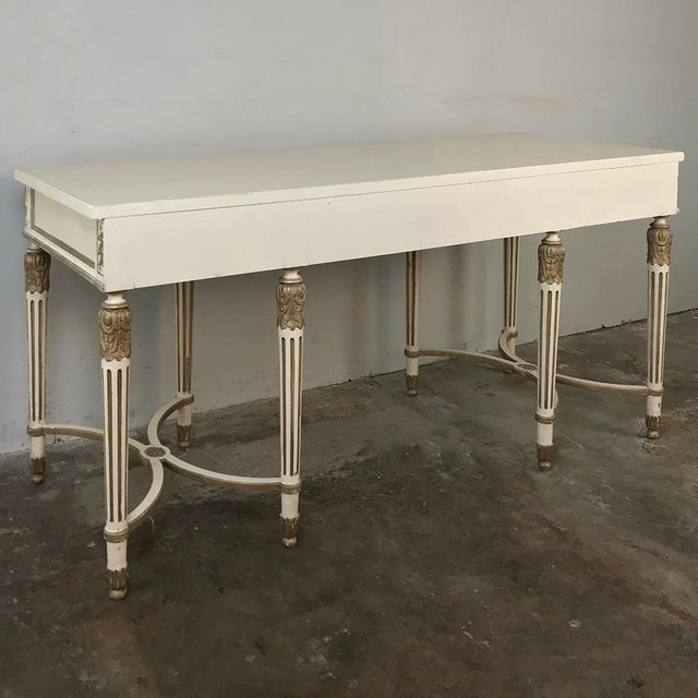 Antique Italian Neoclassical Painted Sofa Table ~ Vanity ~ Writing Desk For Sale - Image 12 of 13