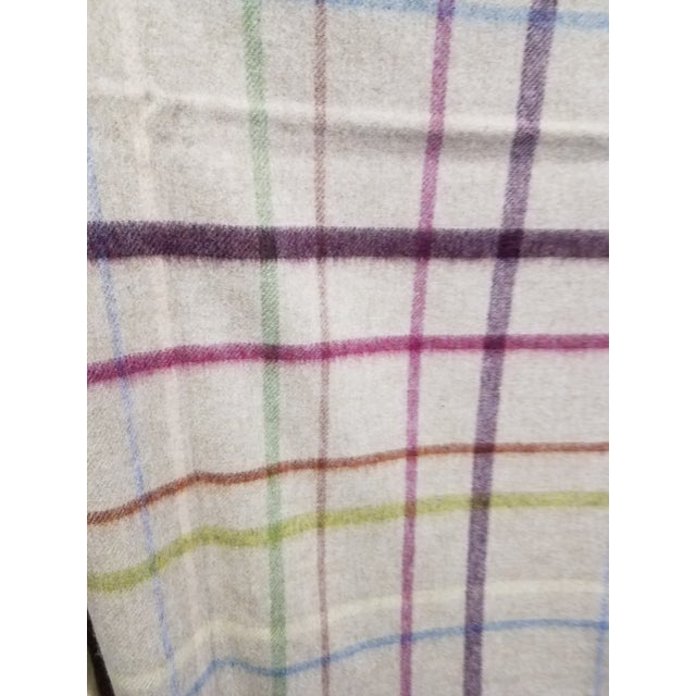 2020s Wool Throw Multi Color Stripes on Beige Background - Made in England For Sale - Image 5 of 12