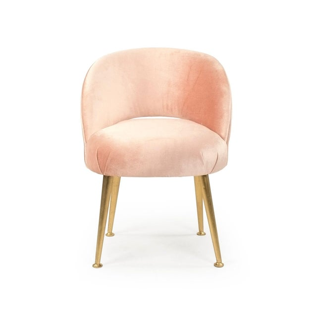 2020s Gait Chair in Pink Velvet For Sale - Image 5 of 5