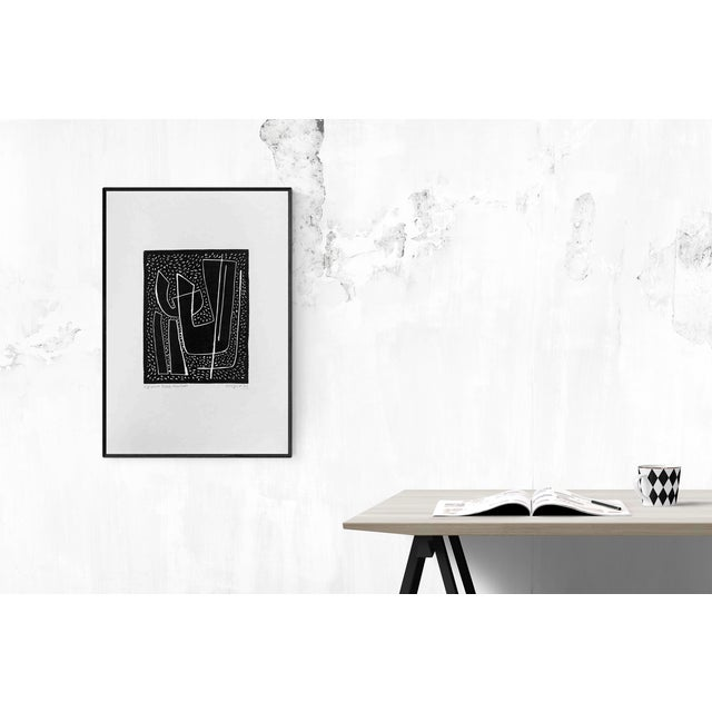 Abstract Alberto Magnelli_Untitled I (Fond Noir)_1970 For Sale - Image 3 of 4