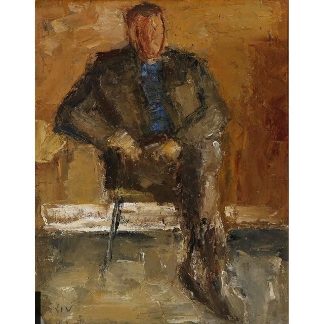 Framed portrait of a gentleman by Jeppe Vontillius. Signed IV. Oil on canvas. Jeppe Vontillus was a Danish artist born in...
