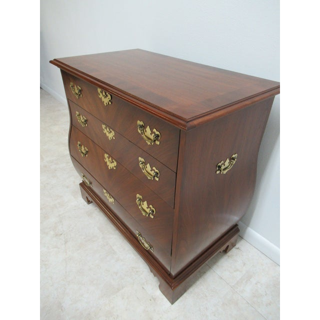 French Provincial French Country Weiman Serpentine Bachelors Chest For Sale - Image 3 of 13