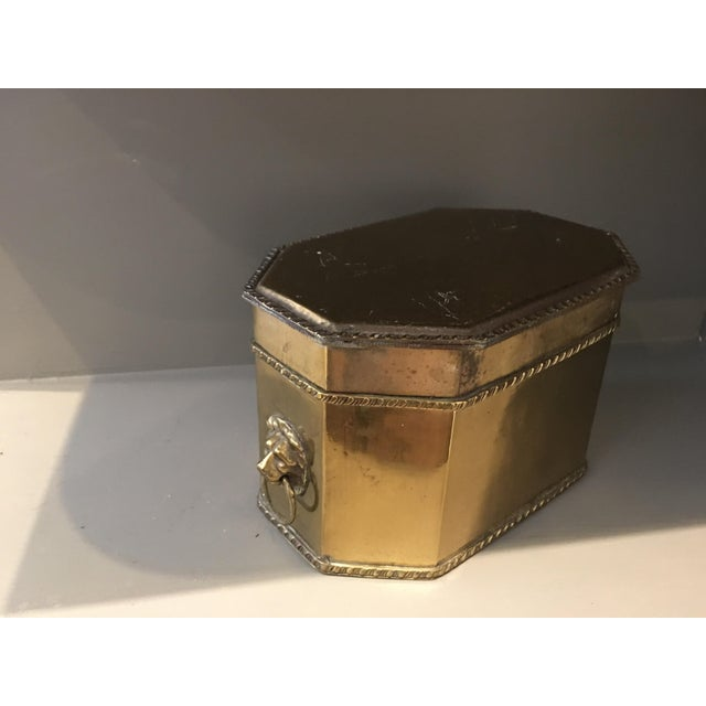 Antique Brass Lions Head Box - Image 4 of 4