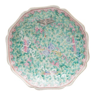 18th Century Chinese Famille Rose Plate For Sale