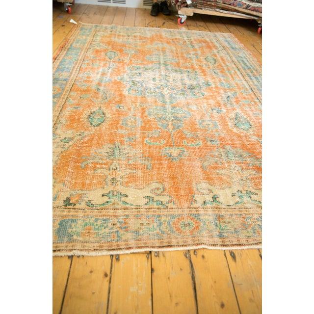 "1960s Vintage Distressed Oushak Carpet - 6'4"" X 9'3"" For Sale - Image 5 of 13"