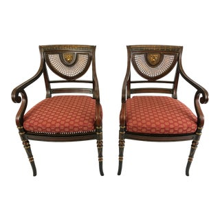 Smith & Watson Hollywood Regency Armchairs - a Pair For Sale