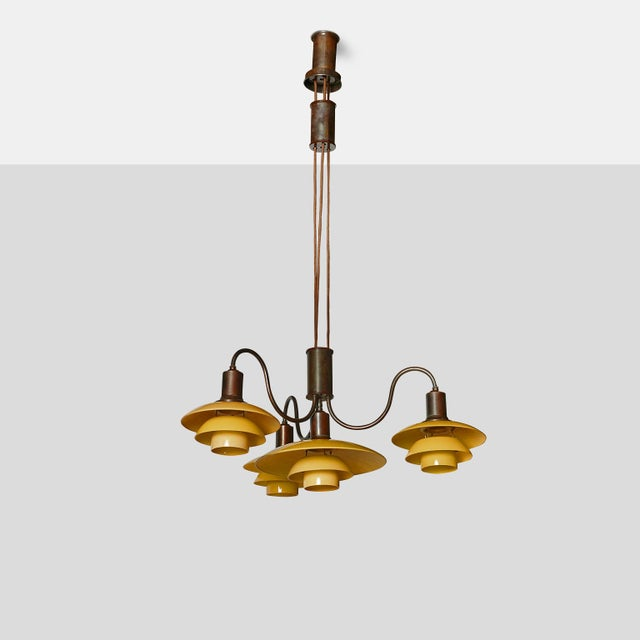 "Mid-Century Modern ""Emperor"" Suspension Chandelier by Poul Henningsen For Sale - Image 3 of 9"
