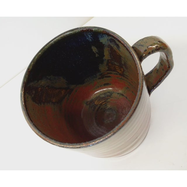 Hand-Thrown Artisan Shaving Mug For Sale - Image 4 of 7