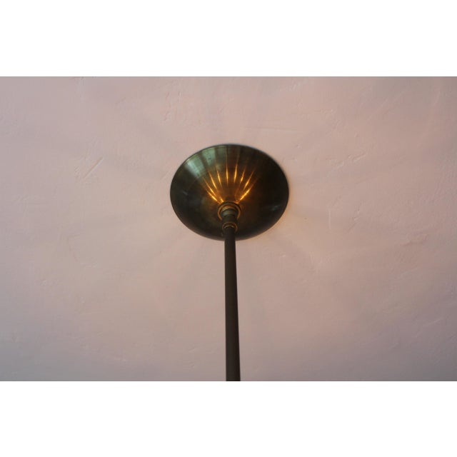 1960s Mid-Century Modern Brass & Lucite Chandelier For Sale In Los Angeles - Image 6 of 8