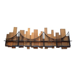Signed 1969 Skyscraper Bridge Sculpture For Sale