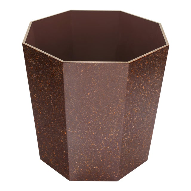 Miles Redd Collection Octagonal Waste Basket in Porphyry For Sale