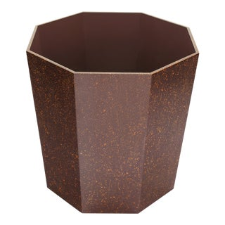 Octagonal Waste Basket in Porphyry - Miles Redd for The Lacquer Company For Sale
