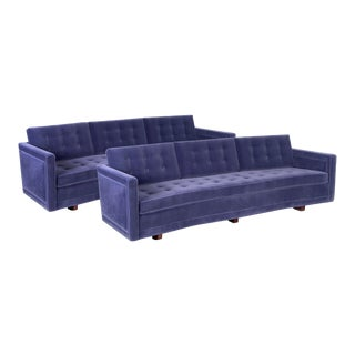 Pair of Harvey Probber Curved Sofas For Sale