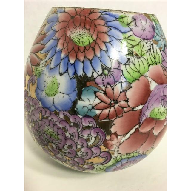 Gold Gilt Botanical Ceramic Ginger Jar - Image 3 of 6