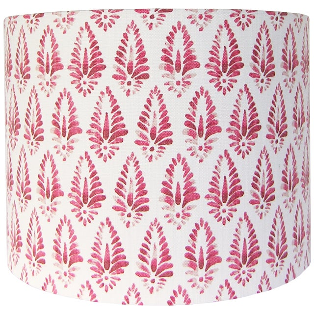 Boho Chic Red Patterned Lamp Shade For Sale - Image 3 of 5