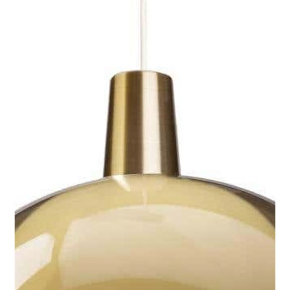 Yki Nummi Large Sand 'Kuplat' Pendant for Innolux Oy, Finland. Designed in 1959, Nummi's iconic light consists of two...