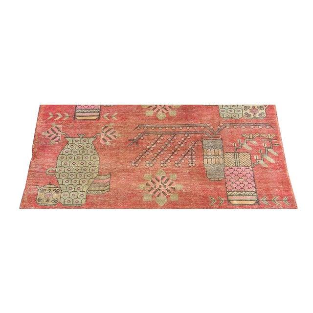 Primitive 19th Century Tribal Antique Uzbek Samarkand - 6'5'' X 4'4'' For Sale - Image 3 of 6