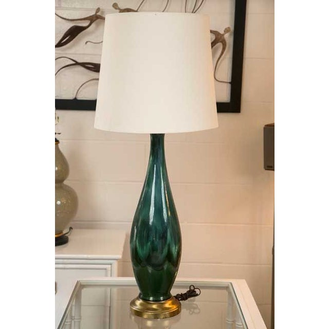 Mid-Century Ceramic Lamps - a Pair - Image 2 of 5