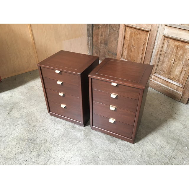 Mid 20th Century Mid-Century Modern Edward Wormley for Drexel Wood Precedent Nightstands - a Pair For Sale - Image 5 of 11