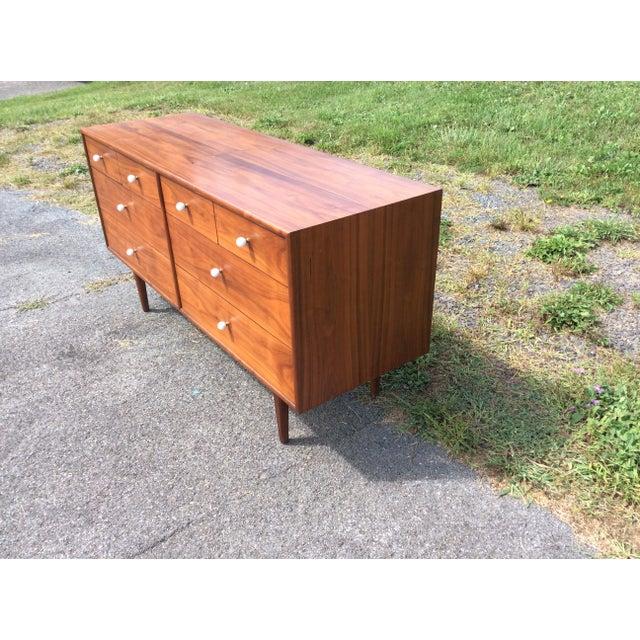Kipp Stewart for Drexel, Walnut Dresser & Mirror - Image 6 of 10