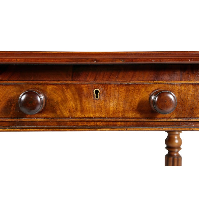 Early 19th Century Regency Mahogany Writing Table For Sale - Image 5 of 12